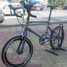"JAVA Mini velo Bike 451 Road Bike CR-MO Frame &Carbon Fork With S h i m a n o Tiagra 20 Speed 20"" 1 1 /8"" Minivelo Bicycle"