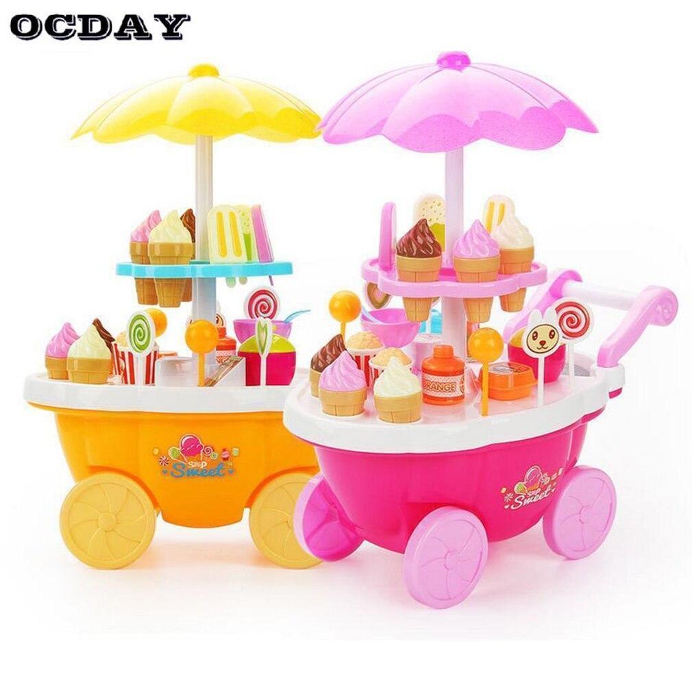 Di Animo Gentile Ocday Ice-cream Trolley Set Bambini Giochi Di Imitazione Giocattoli Con Musica Di Illuminazione Ruolo Di Apprendimento Giocattoli Educativi Per I Bambini Delle Ragazze Regali Crease-Resistenza