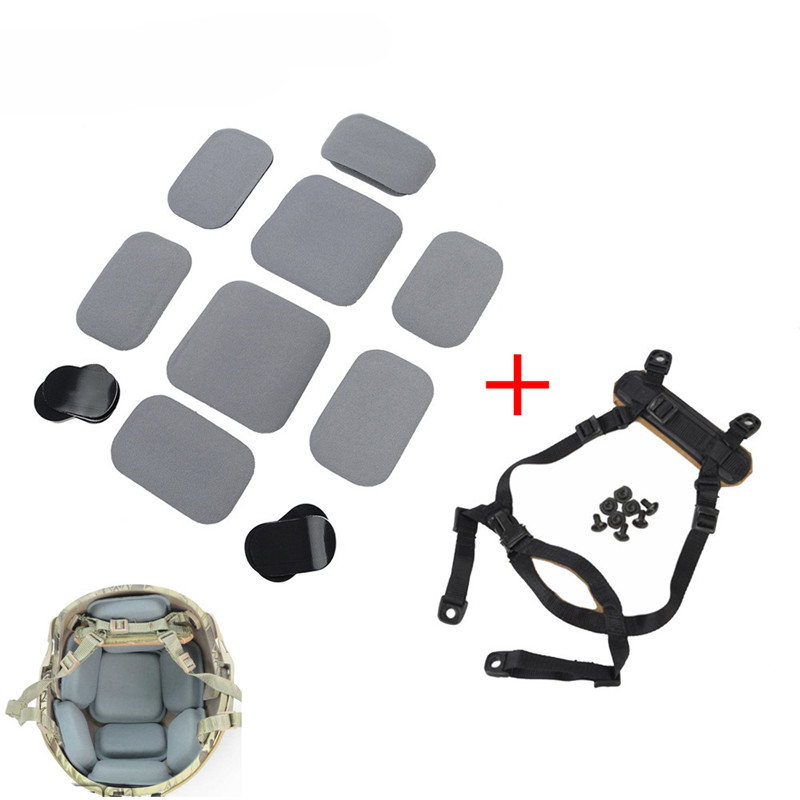 FMA Tactical Hunting Helmet Accessories Protective Pad And Suspension System H-Nape for CP Helmet /MICH Helmet night evolution charge mpls helmet light illumination tool 4 modes tactical hunting utility flashlight helmet accessories