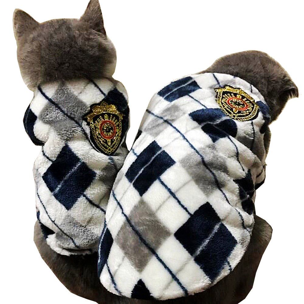Red /yellow /gray  Autumn Winter Flannel Cat Vest  Dog Cat Shirt  Pet Outfit Cat Coat Clothes For Small Cat Dog Puppy