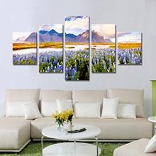 Drop Pengiriman Lukisan Minyak Kanvas Wall Art Canvas Prints Lukisan Dekoratif untuk Ruang Tamu Dinding Gambar Landscape Modular