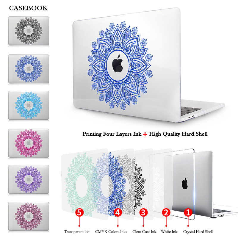 Aliexpress Buy CASEBOOK Paisley Color Print Crystal Hard Case For 2016 New Macbook Pro 13 Inch A1706 15 With Touch Bar A1708 A1707 From