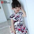Девушки Платья Лето 2016 Высокое Качество Китайский Тан Стиль Мать Дочь Платье Одежды Малыша Принцесса Костюмы Можно Настроить