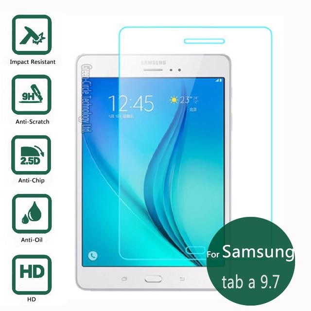Para samsung galaxy tab a 9.7 templado protector de pantalla de 2.5 9 h Película Protectora de Seguridad En TabA, Además de AL Como T550 T555 P550