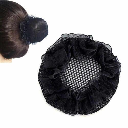 2018 г. Модный дизайн женский, Черный Балет Танец катание Snoods волос Чистая булочка крышка
