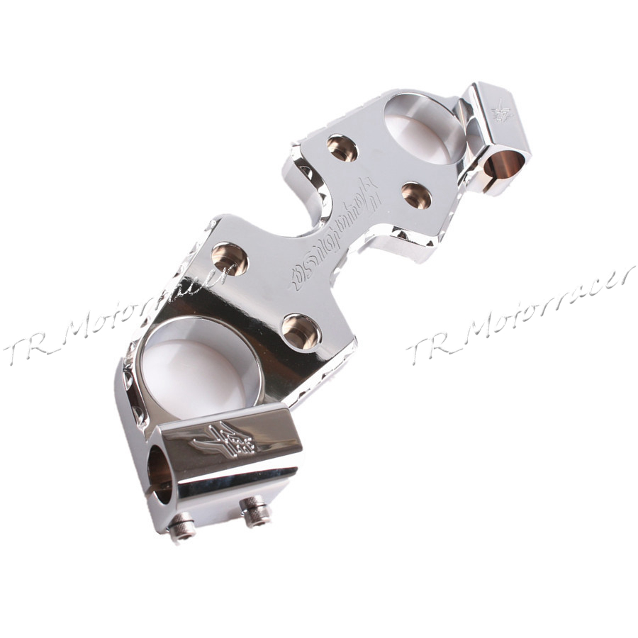 Triple Tree Front End Upper Top Clamp For Suzuki Hayabusa GSXR1300 GSX1300R 2008-2012 2009 2010 2011 Chrome New Replacement for bmw 3 series e36 318 328 323 325 front coilover strut camber plate top mount green drift front domlager top upper mount