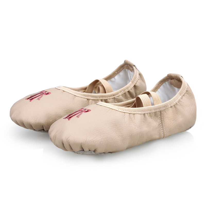 Picture of Children Dance Shoes Pu Leather Soft Sole Ballet Dance Shoes Girls Gymnastics Shoes Cat Claw Yoga Practice