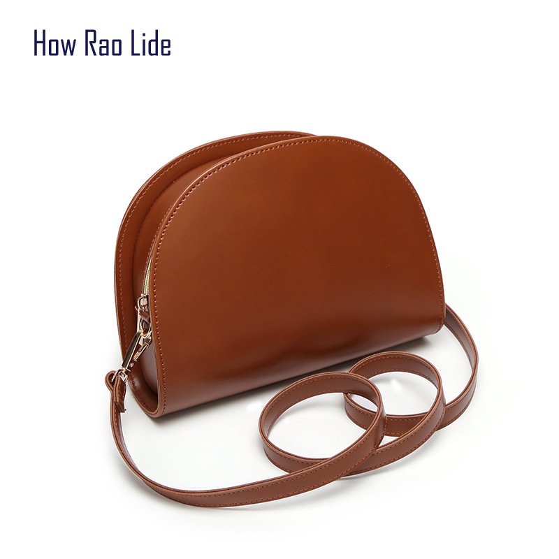 все цены на 2018 shoulder bag female moon bag ladies Messenger bag PU leather handbag new brand limited edition beauty mini evening bag