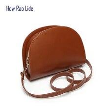 2018 shoulder bag female moon bag ladies Messenger bag PU leather handbag  new brand limited edition a0cec5a979b79