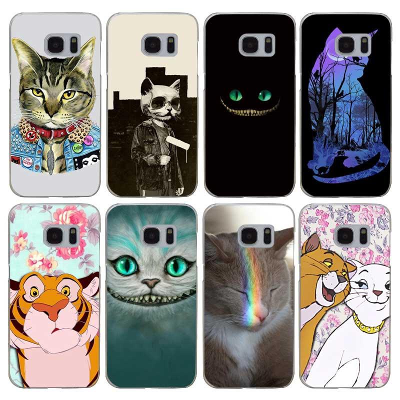G491 Fashion Kawaii Cat Transparent Hard PC Case Cover For Samsung Galaxy S 3 4 5 6 7 8 Mini Edge Plus Note 3 4 5 8