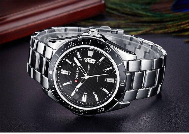 Mens Watches Top Luxury Brand CURREN 18 Men Full Steel Watches Quartz Watch Analog Waterproof Sports Army Military WristWatch 14