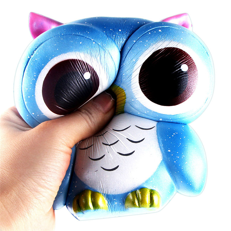 15cm Lovely Galaxy Owl Cream Scented Squishy Slow Rising Squeeze Toys CollectionStress  Rising Wipes Anti-stress Toys A1