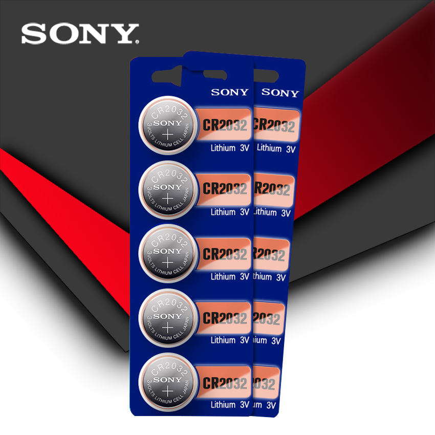 10pcs/lot SONY Original Cr2032 Button Cell Batteries 3V Coin Lithium Battery For Watch Remote Control Calculator Cr2032