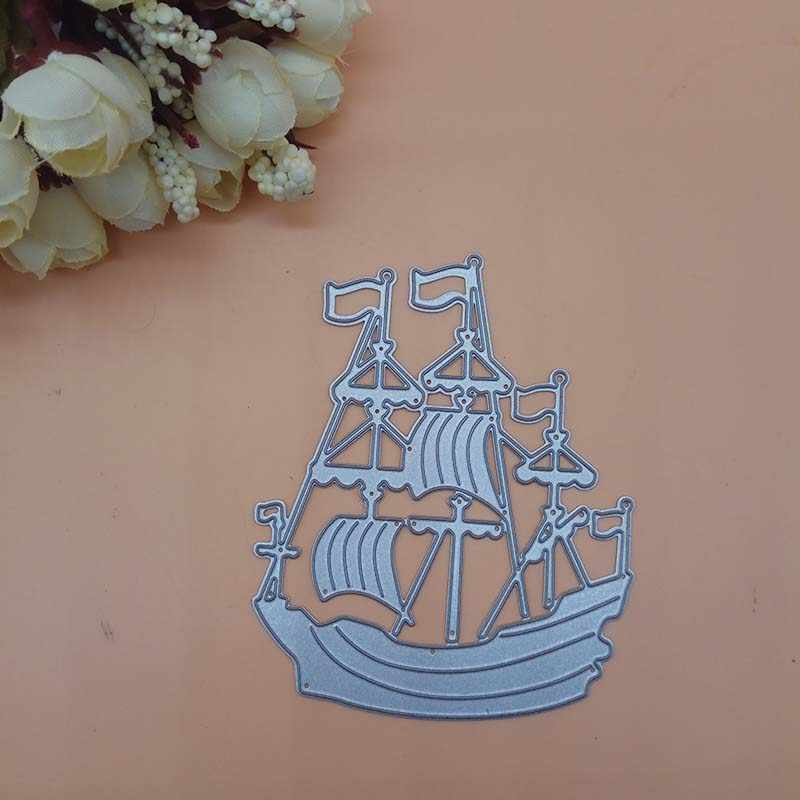 SAIL BOAT large die cuts scrapbook cards