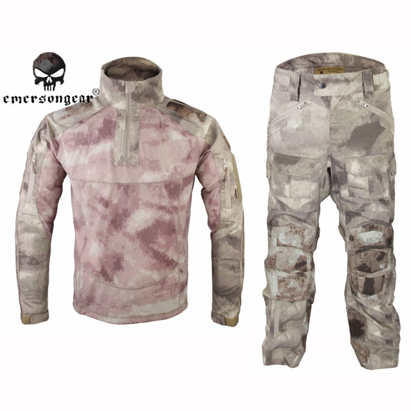 Emerson Military Hunting Combat BDU Uniform Emerson All-Weather Tactical Suit & Pants with Elbow & Knee Pads EM6894 A-TACS military uniform multicam army combat shirt uniform tactical pants with knee pads camouflage suit hunting clothes