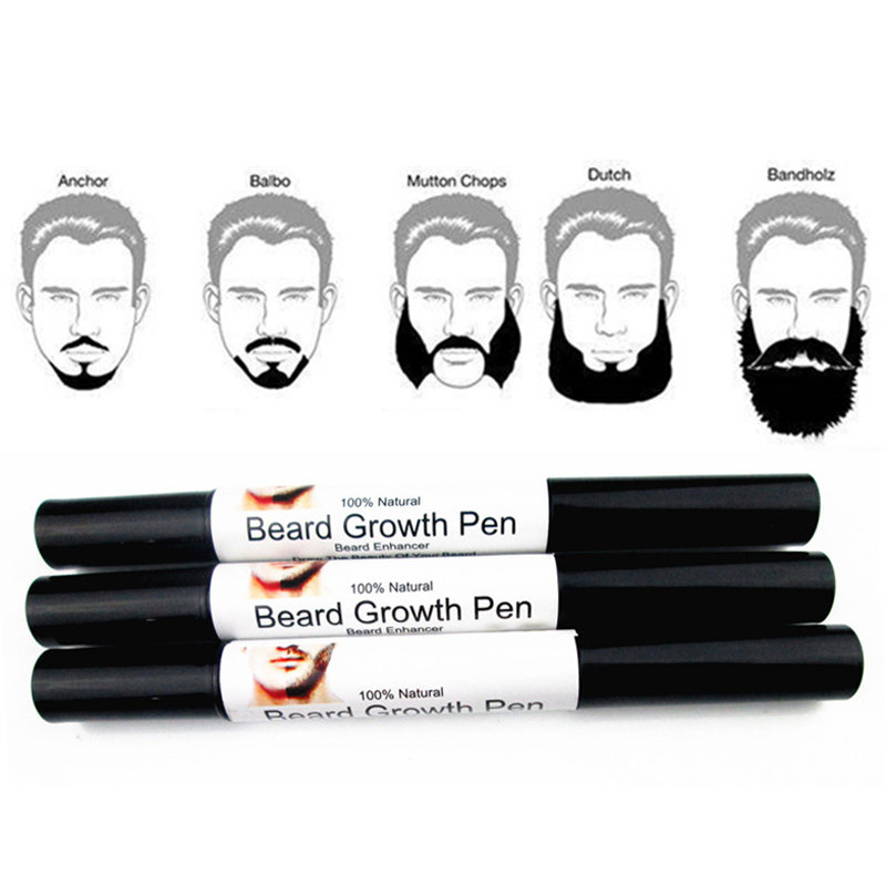Professional Men Liquid Beard Growth Pen Beard Enhancer Facial Whiskers Nutrition Mousta ...