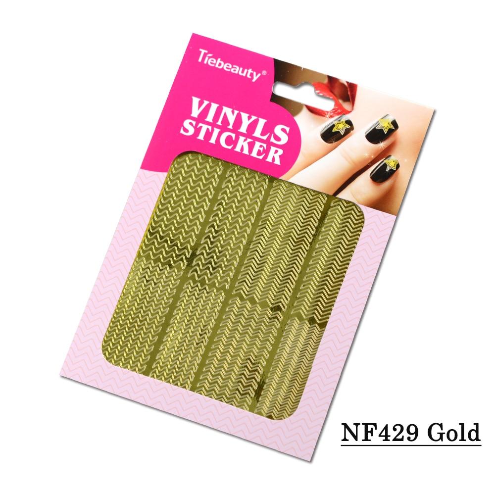 1X12 Designs Gold Silber DIY Nagel Vinyls Aufkleber Nail art ...