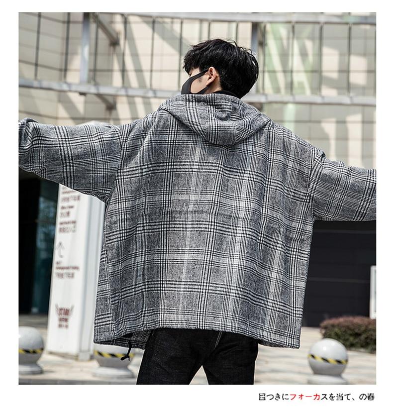 Male Long Coat Oversize Lapel Button Sobretodos Hombre Overcoat Streetwear (26)