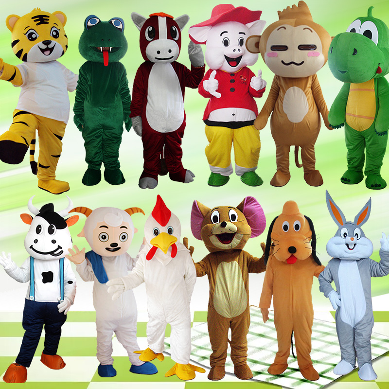 12 Costume de mascotte du zodiaque chinois costumes Cosplay partie jeu robe tenues vêtements publicité carnaval Halloween pâques adultes US