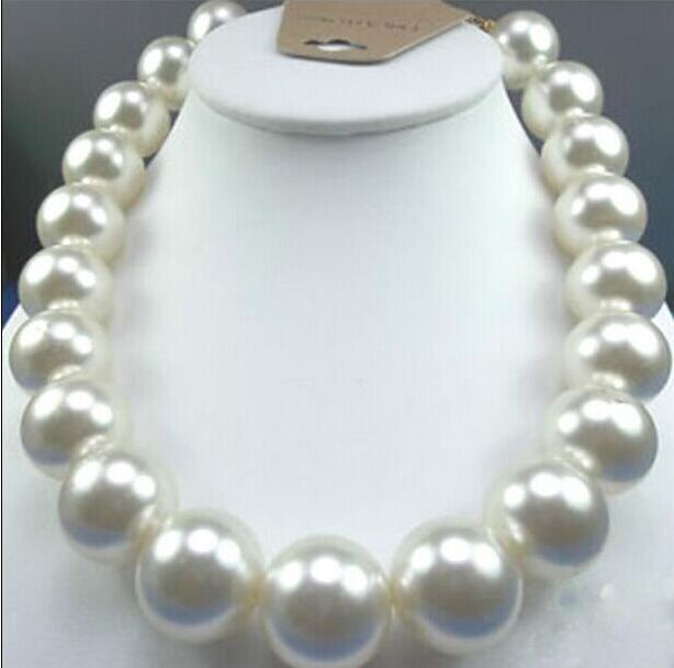 Top Huge1817mm natural south sea genuine white round pearl necklace   Top Huge1817mm natural south sea genuine white round pearl necklace