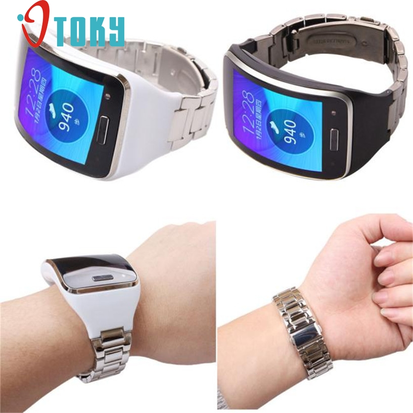 OTOKY Fabulous Stainless Steel Metal Watch Band Wrist Strap Bracelet For Samsung Gear S SM-R750 Wrist Watch Band Dec26 wireless waiter calling system durable pager 433 92mhz transmitters for restaurant 4 display 38 call button