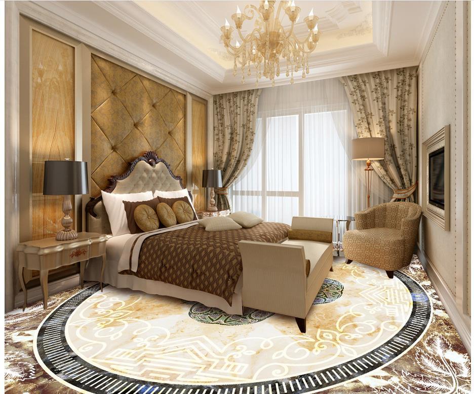 3d revêtement de sol en marbre de style européen papier peint étanche pour mur de salle de bain 3d peinture au sol papier peint