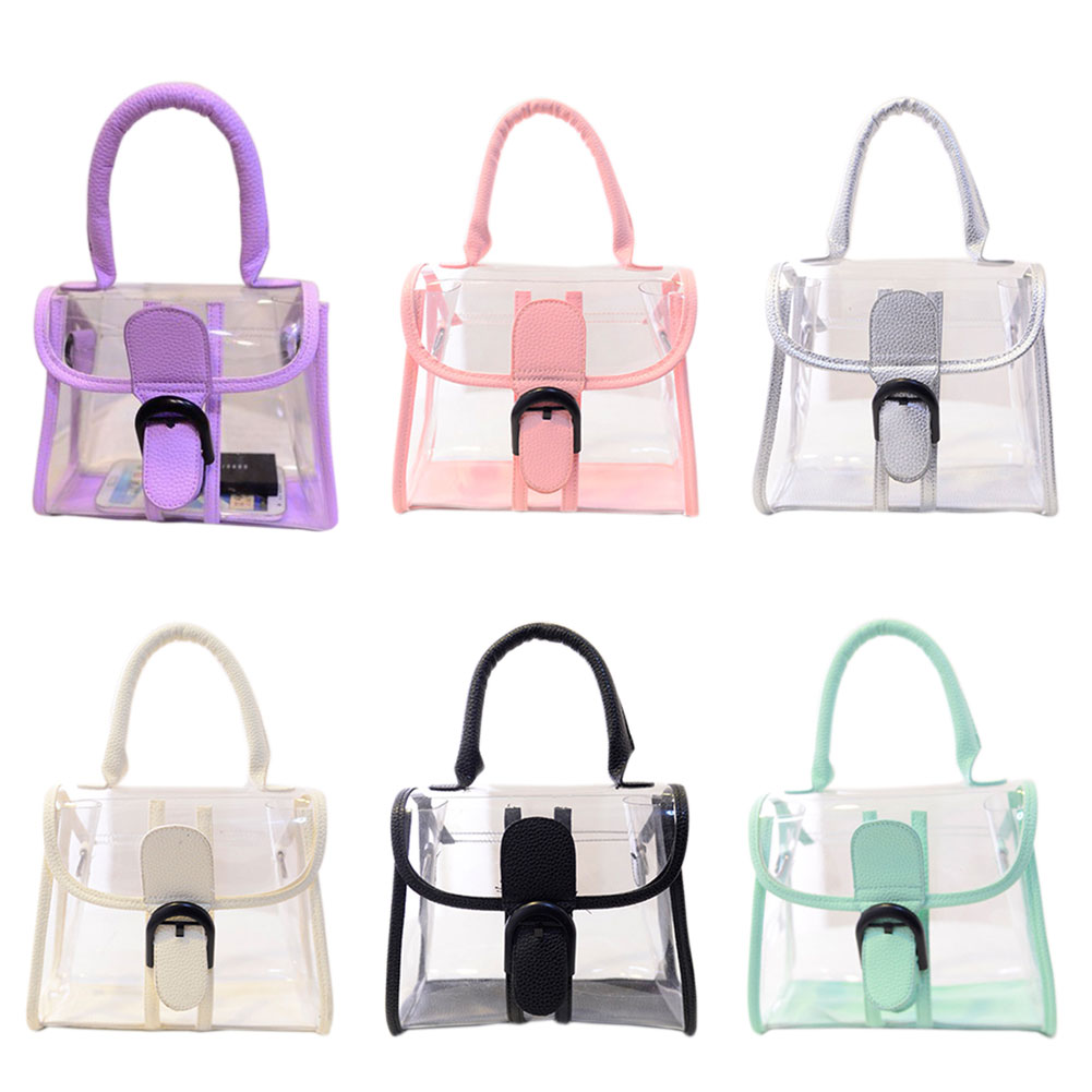 Hot Sale Casual Style Women Messenger Bags Transparent Jelly Bags ...