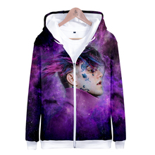 LUCKYFRIDAYF Hip Hop lil peep Suicide Squad Funny 3D Zipper Hoodies Women Spring Skull Print Long Sleeve Clothes
