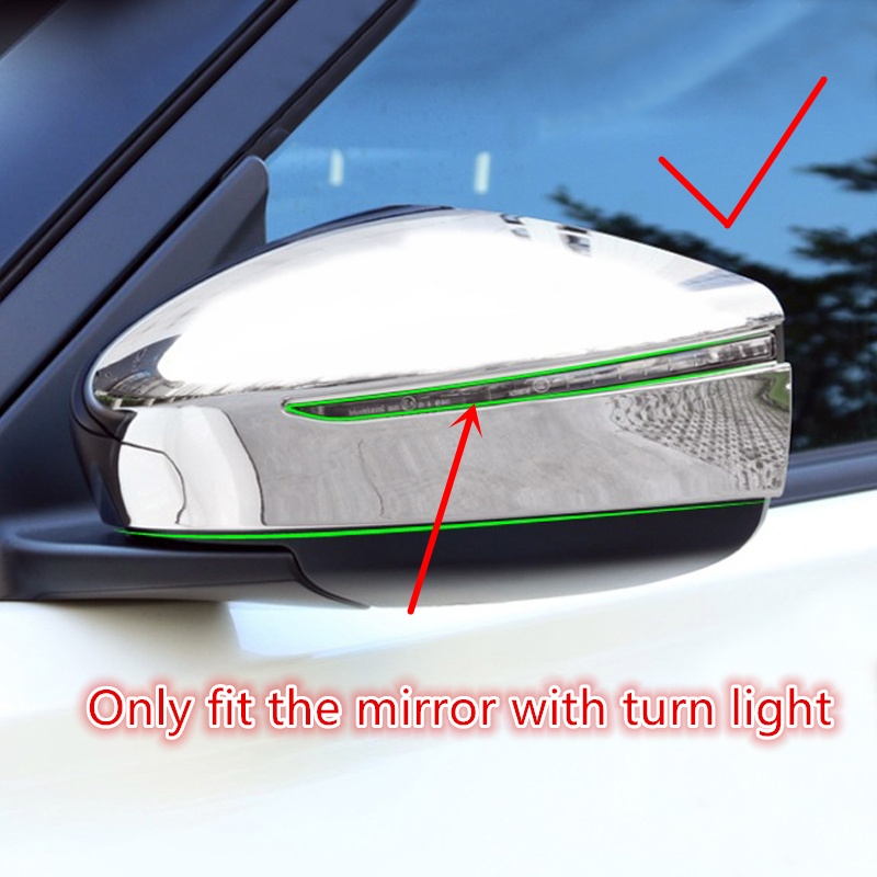 2PCS ABS Exterior Rearview Mirrors Cover Decoration Trim For Nissan Kicks 2016 2017 2018 Car Accessories цены