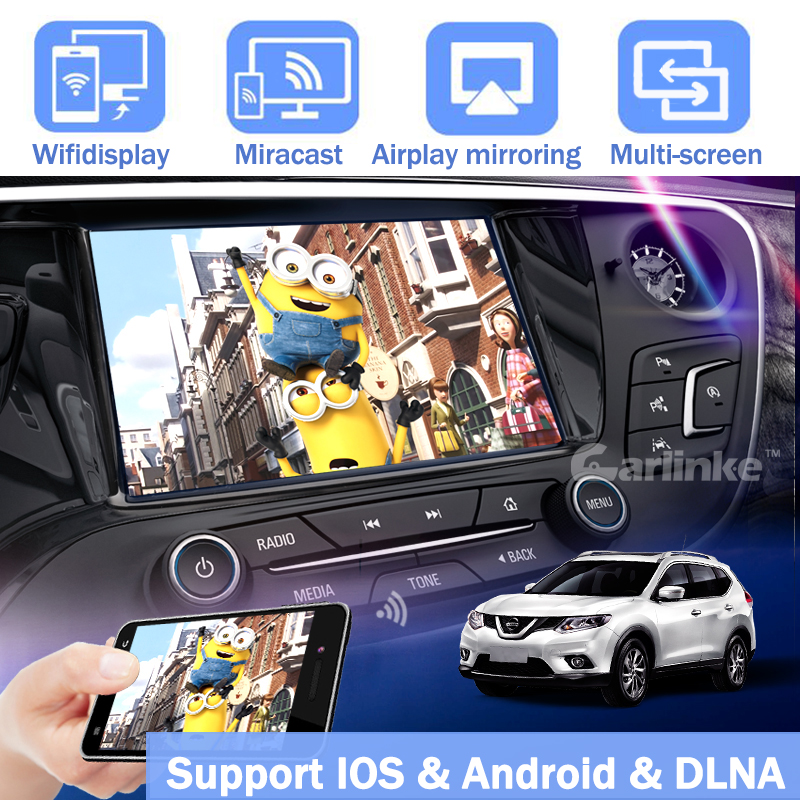 Carlinke 5G Wifi Display Converter IOS Android Smart Phone to Car TV by Airplay Mirroring Miracast DLNA allshare ACC IOS10 for ios11 5g wifi mirror box car wifi display android ios miracast dlna airplay wifi smart screen mirroring car and home hdtv