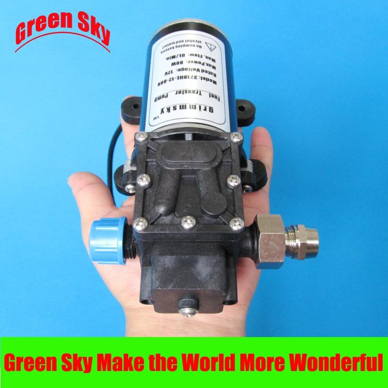 8L/Min 80W 12V DC High Flow oil suction pump for Gasoline, diesel, kerosene, engine oil high quality 8l min 24v dc 80w food grade pump dc