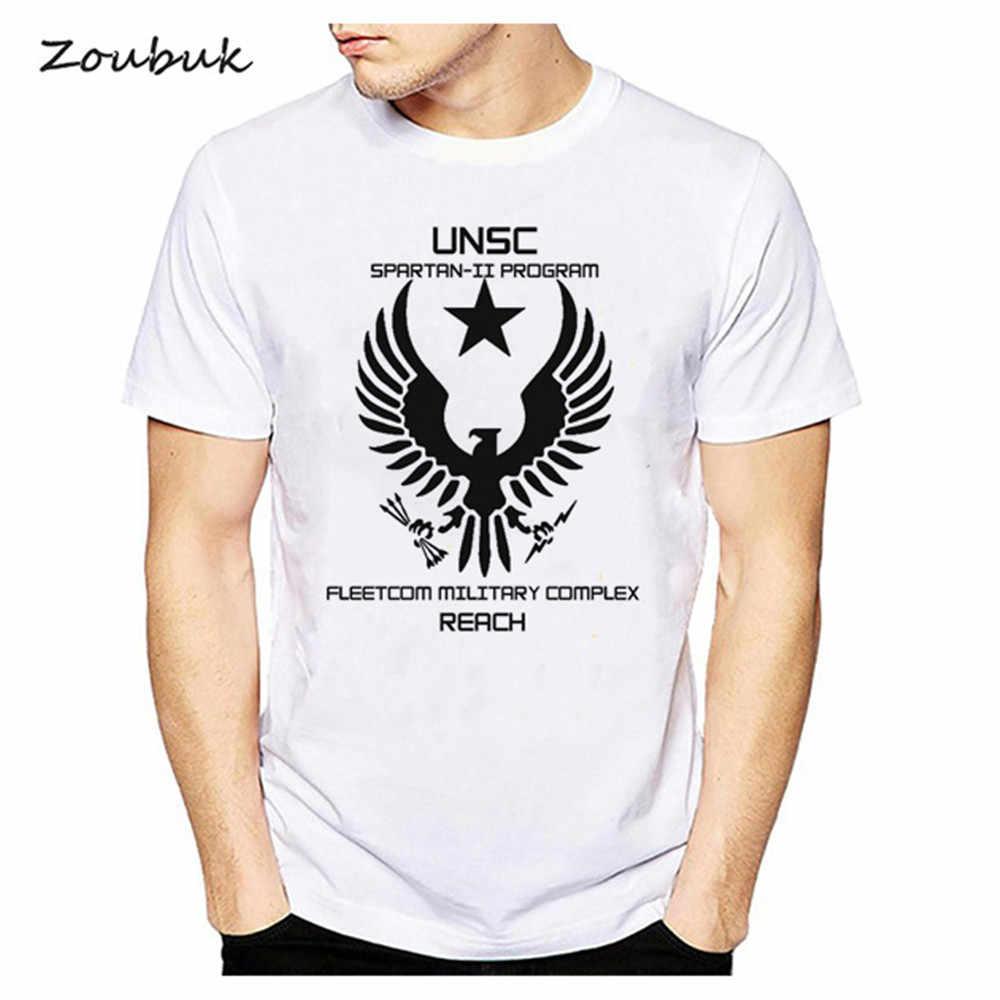 65fbf2411b Detalle Comentarios Preguntas sobre Halo UNSC camiseta hombres juego  camiseta moda verano top manga corta o cuello camiseta algodón blanco  camisetas cool ...