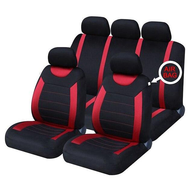 Universal Auto Capas Para Assentos de Carro Confortável Tecido Respirável Tampa de Assento de Automóveis Fit Para Ford Focus 2, kia Rio 3, Etc.