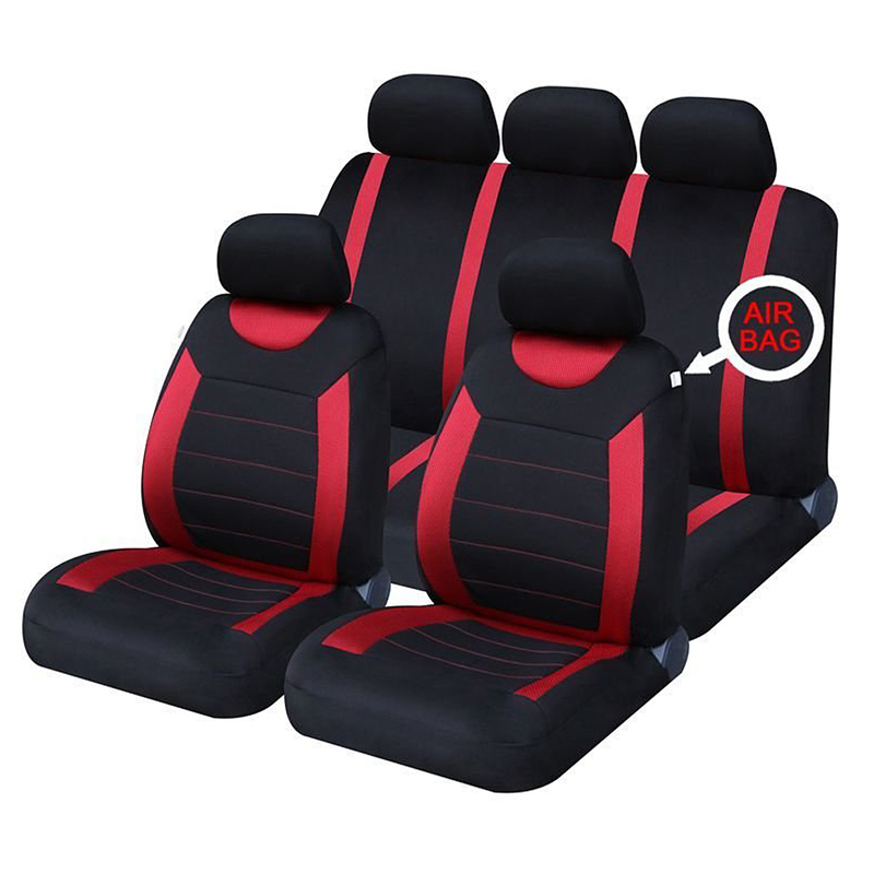 Black Red Leather Car Seat Covers For Nissan Patrol 5DR 1982-1998