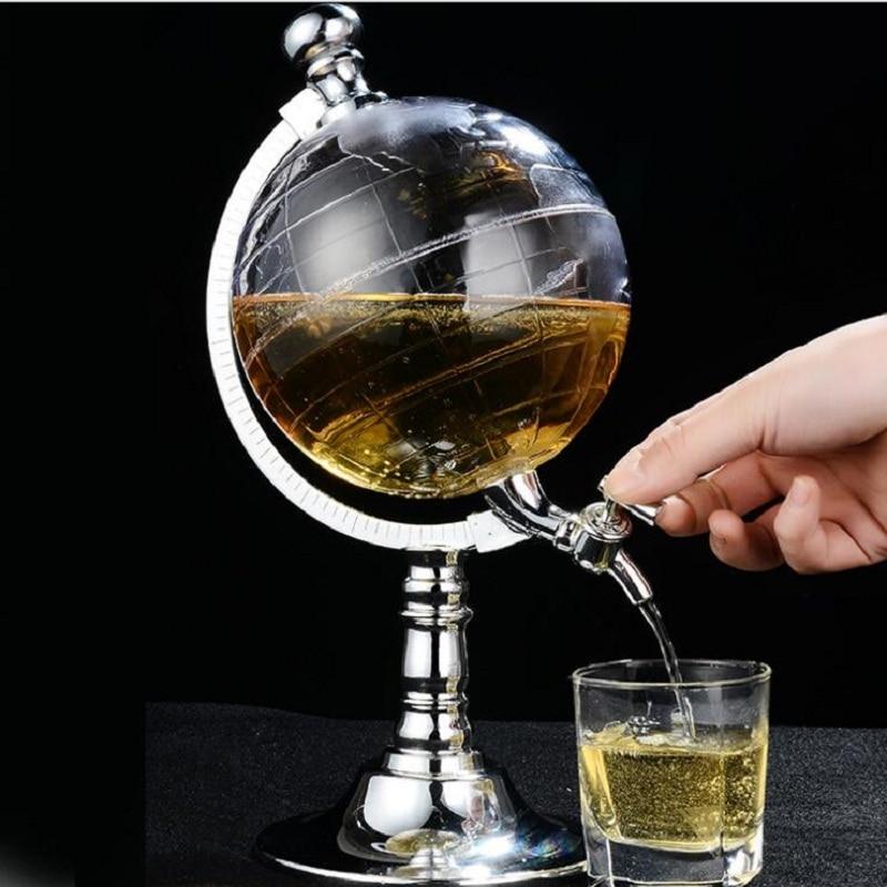 Mini Globe Potable Fontaine ABS Argent Parure Personnalité Bière Liquide Fontaine Décoration de La Maison Verseur Creative Bar Outils