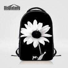 Dispalang Женская ноутбук рюкзак для студентов колледжа Прохладный Цветок Печать школьные сумки для девочек уникальные Рюкзак Mochila