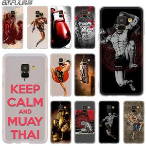 Cover Silicone case For Samsung Galaxy A6 A8 A9 A7 A5 A3 Plus 2018 2017 2016 2015 A71 Star grant Muay Thai Fight Boxing(China)