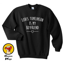 Louis Tomlinson is my boyfriend shirt Quote Fashion Blogger Hipster Top Crewneck Sweatshirt Unisex More Colors XS - 2XL