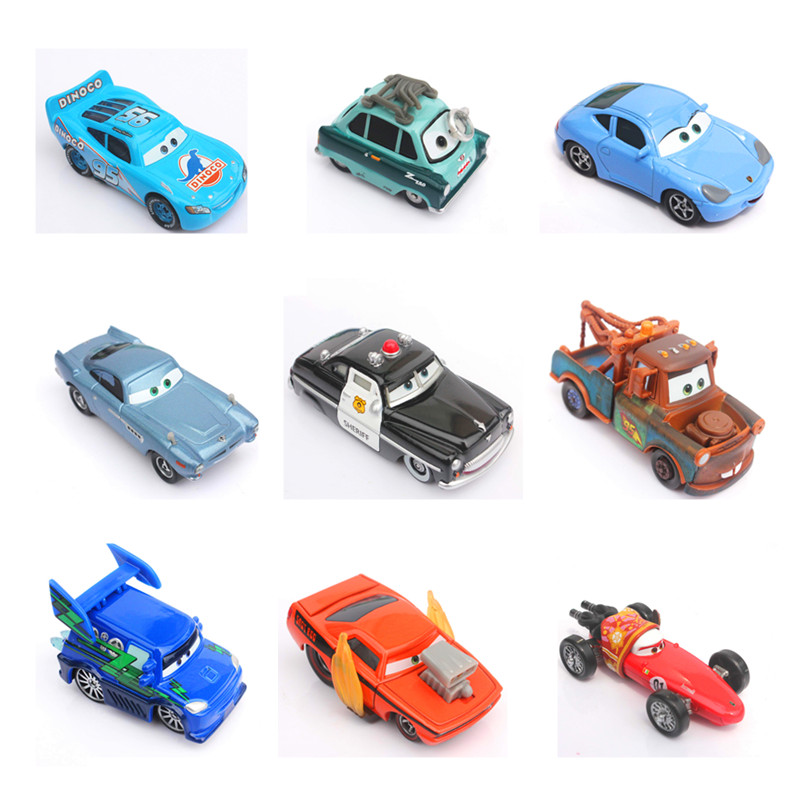 27 styles Cars 3 Diecast Metal Alloy Modle Cute Toys For Children Gifts Anime Cartoon Kids Dolls Collection Gift maisto jeep wrangler rubicon fire engine 1 18 scale alloy model metal diecast car toys high quality collection kids toys gift