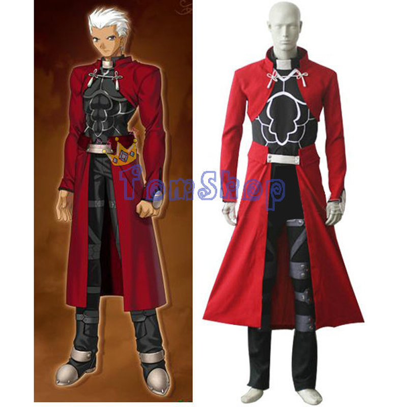 Fate Stay Night Archer Cosplay Uniform Suit Men's Halloween Full Set Costumes Custom Size Free Shipping