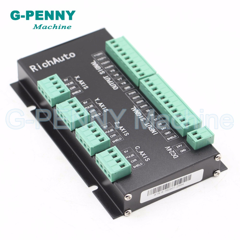 Freies verschiffen! DSP 3 achse Richauto A11 controller CNC wireless kanal für CNC router stecher griff motion Englisch version