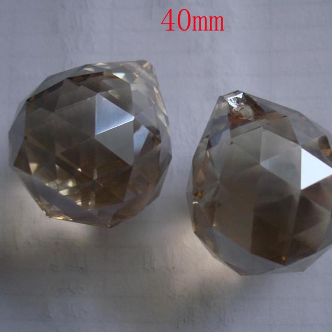 2pcs/lot 40mm cognac ball crystal pendants for chandelier home door curtain decoration wedding decoration free shipping