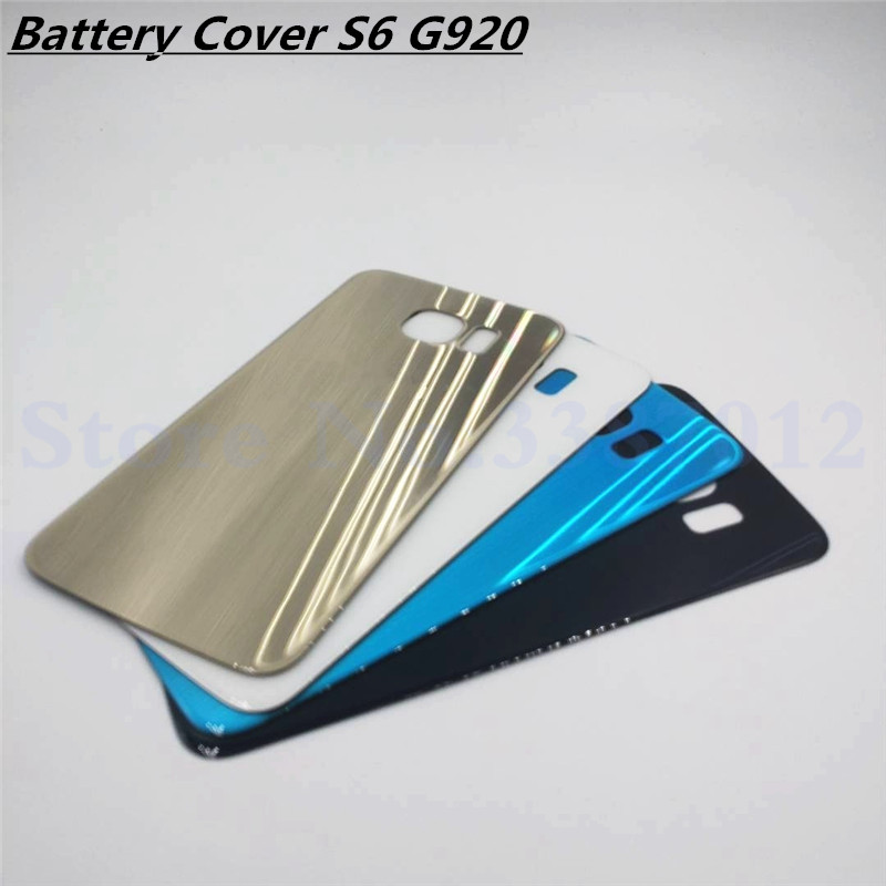 <font><b>Replacement</b></font> For <font><b>Samsung</b></font> <font><b>Galaxy</b></font> <font><b>S6</b></font> G920 G920F Back Battery Cover Door Rear <font><b>Glass</b></font> Housing Case Battery Cover image