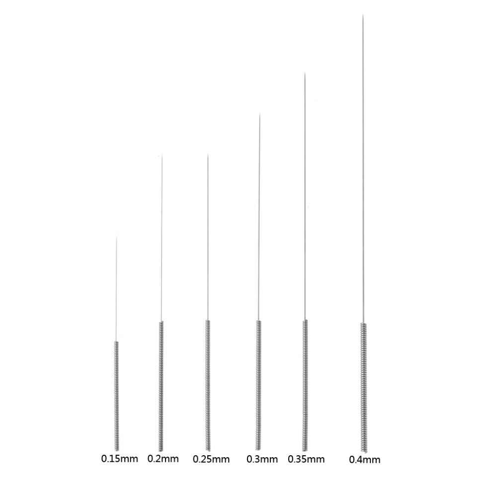 5 шт./лот 3D-принтеры игла для очистки Нержавеющаясталь игла для очистки форсунки 0,2/0,25/0,3/0,35/0,4/0,5/0,6/0,75 мм для 3D-принтеры