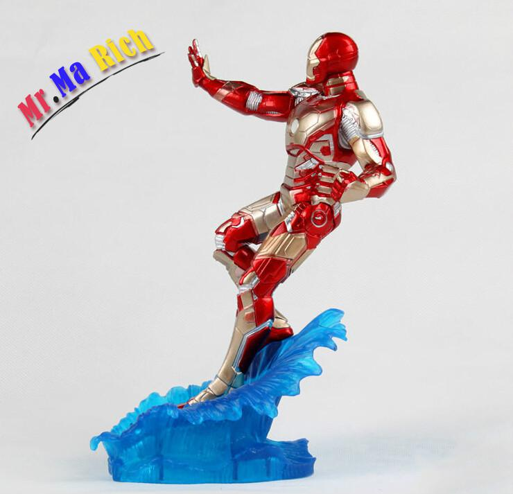 3pcs/set 24cm Iron Man Water Action Figures Pvc Brinquedos Collection Figures Toys For Christmas Gift With Retail