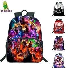 16 Cal torby szkolne dla dziewcząt chłopiec Avengers dzieci plecaki przedszkole codziennie Plecak podróżny dzieci Plecak Plecak Szkolny 1
