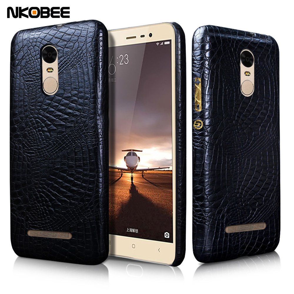 "NKOBEE Luxury For Xiaomi Redmi Note 3 Pro Case 3D Crocodile Leather Cover For xiaomi Redmi Note 3 Pro note3 5.5"" Accessories"