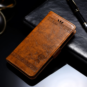 Image 1 - For BQ Aquaris X2 Case Vintage Flower PU Leather Wallet Flip Cover Coque Case For BQ Aquaris X2 Phone Case Fundas