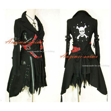Free Shipping Gothic Lolita Punk Fashion Black Jacket Coat Dress Cosplay Costume Tailor-made