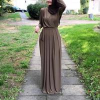 2019 Women Muslim Abaya Turkey Middle East Muslim Dress Musical Robe Ramadan Abaya Patchwotk Elegant Club Party Islamic Clothing